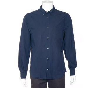 Acne studios Isherwood pop shirt large blue men's